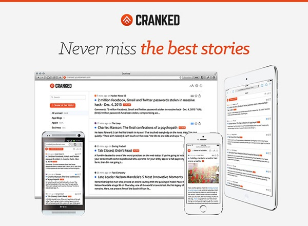 Cranked rss reader
